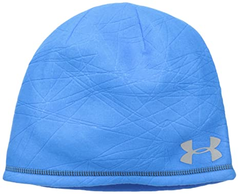 c97f52dc4e3 ... purchase under armour mens coldgear infrared emboss run beanie blue jet  405 reflective 041aa bfda7