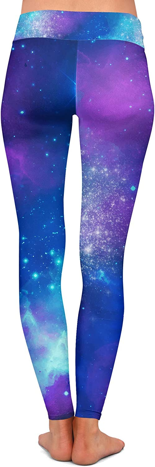 Queen of Cases Beautiful Galaxy Yoga Leggings Low Rise