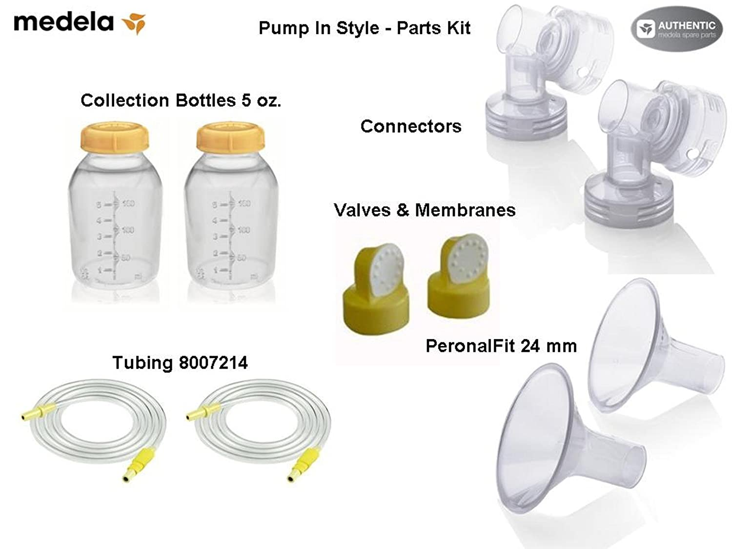 Medela Replacement Parts Kit Pump In Style Advanced ( Old model #57026, #57060 made before 8/2006) BPA Free #PISKITA-STD