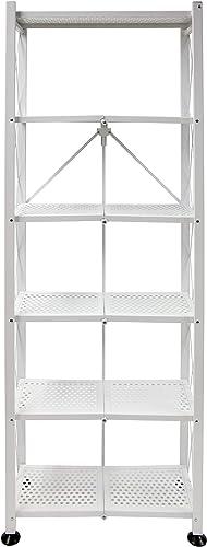 Origami Folding 6-Shelf Office Organizer Bookcase Shelving Units and Storage