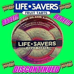 LIFE SAVERS Lifesaver Fruit Tarts (1) Sealed Purple Tin Berry Candy RARE NOS