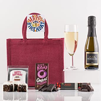 Natures Hampers Happy Birthday Gift Bag Luxury Gift Food Drink