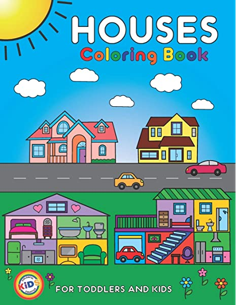 - Amazon.com: Houses Coloring Book For Toddlers And Kids: Colorful Creative  Kids Official Coloring Pages For Kids Ages 2-4, 4-8 (Volume 1: Houses)  (9781733566827): DOOTLS: Books