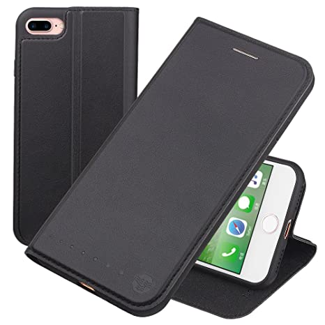 Nouske Funda Tipo Cartera para iPhone 7 Plus iPhone 8 Plus de 5,5 Pulgadas