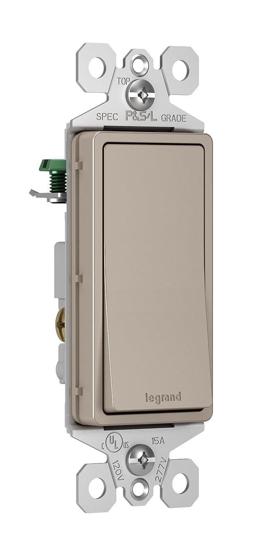 Legrand-P & Seymour TM873NICC10 15 Amp 3-Way Rocker Wall Light ... on