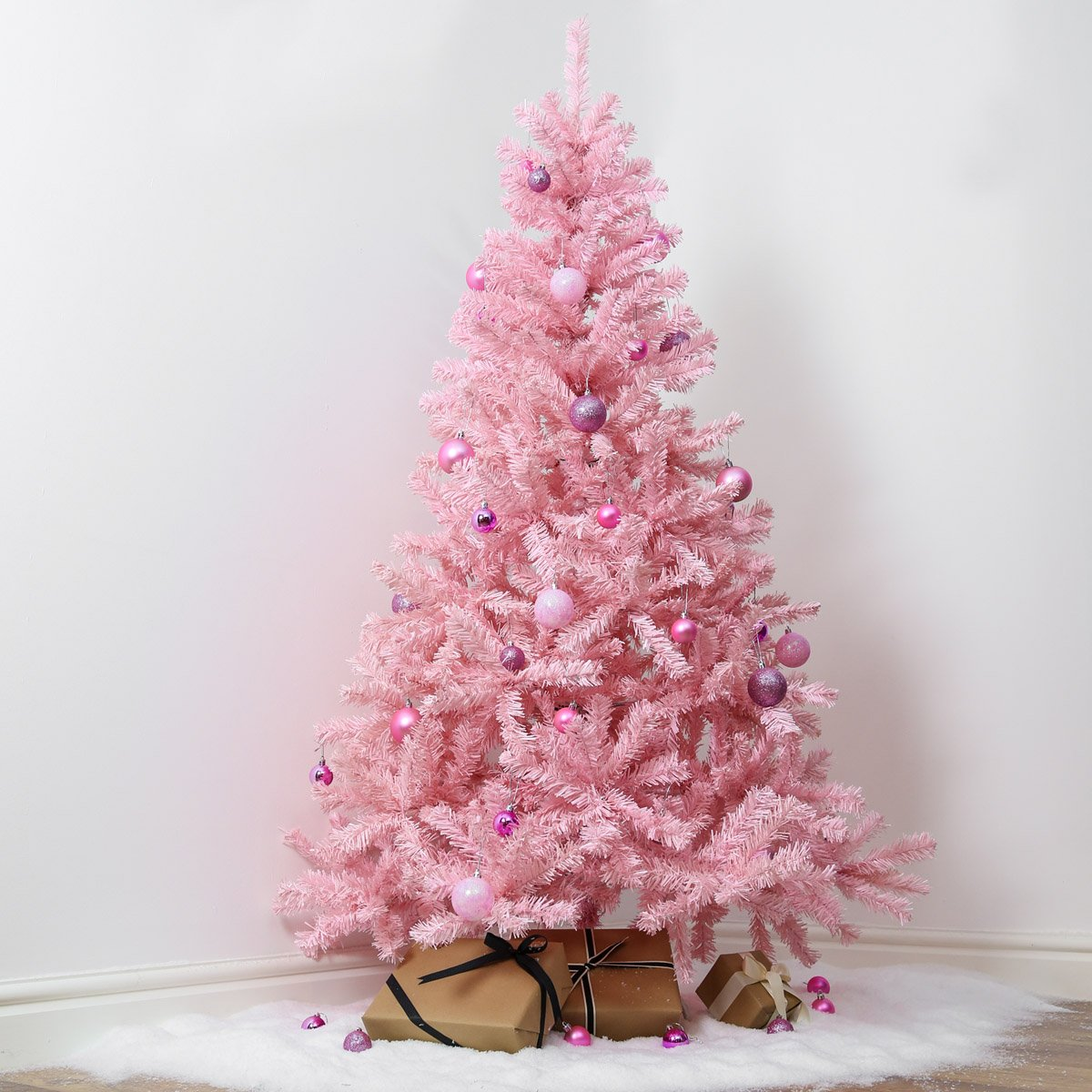 pink indoor artificial christmas tree by festive lights 7ft amazoncouk kitchen home - Pink Christmas Tree