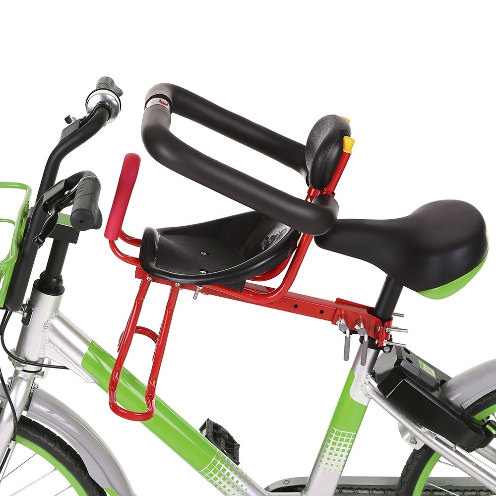 Lixada Ni/ño Asiento De Bicicleta Silla de Montar Frente de Seguridad Metal//Pl/ásticos Pedales para Cycling
