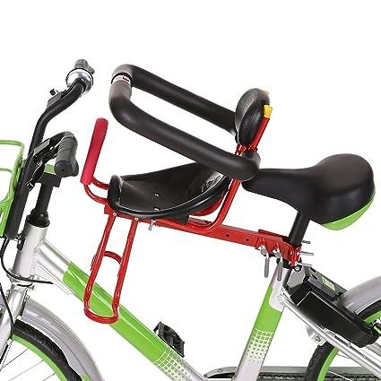 170b54466 Lixada Silla Delantera Bicicleta para Niños Asiento Infantil para Bicicleta  Montaje Frontal Portabebé de Ciclismo