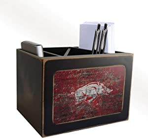 Fan Creations NCAA Arkansas Razorbacks Distressed Team Logo Desktop Organizer with Team Color