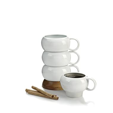Nambe Bulbo Mug Stack, Set of 4