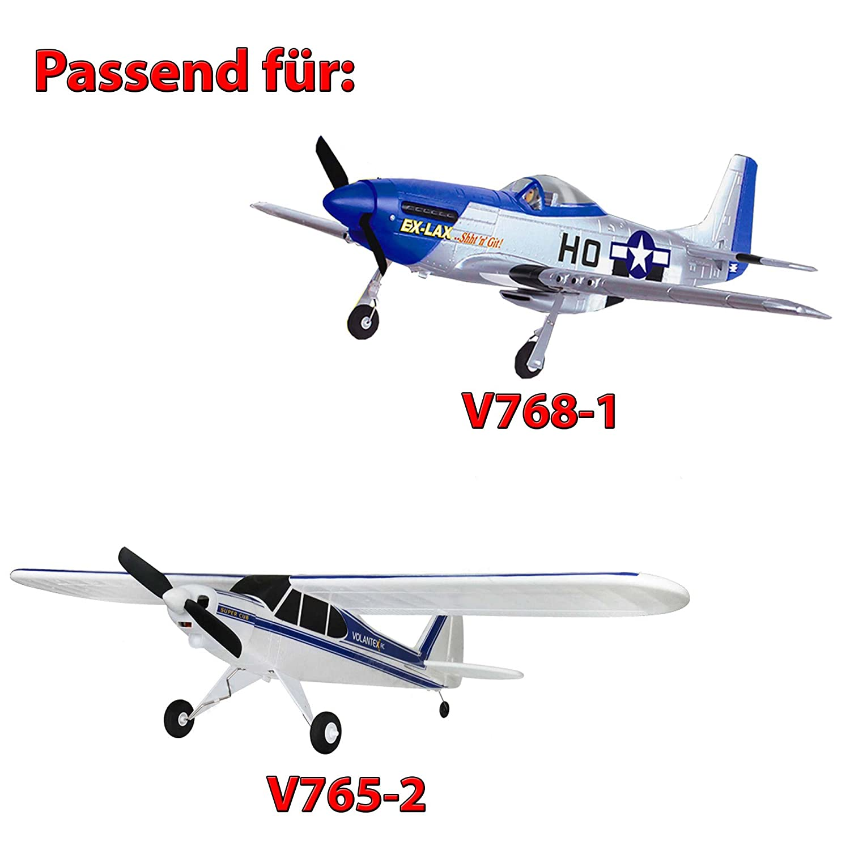 Ersatzteil v765-1 v765-2 Cessna HSP Himoto 3 x Original Propeller f/ür RC Flugzeug Volantex v768-1 Mustang