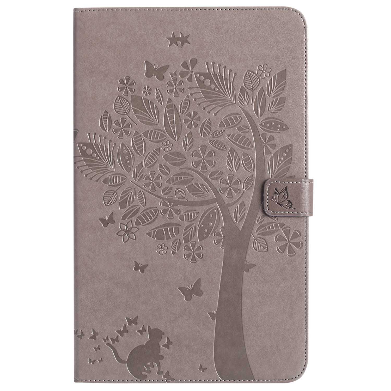 Bear Village Galaxy Tab a 10.1 Inch Case, Leather Magnetic Case, Fullbody Protective Cover with Stand Function for Samsung Galaxy Tab a 10.1 Inch, Gray by Bear Village