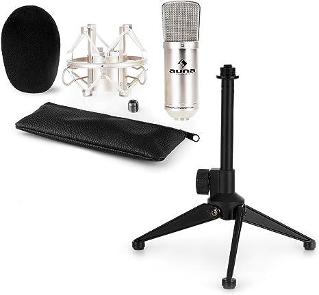 aunaCM001S Set de micrófonos estudio V1 - Micrófono condensador ...