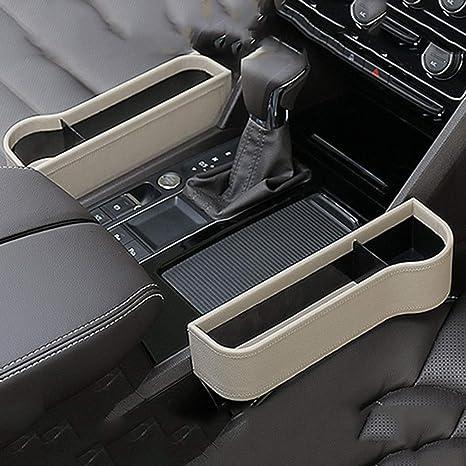2018 Car Seat Gap Catcher Storage Box Pocket Organizer Key Phone Holder Beige