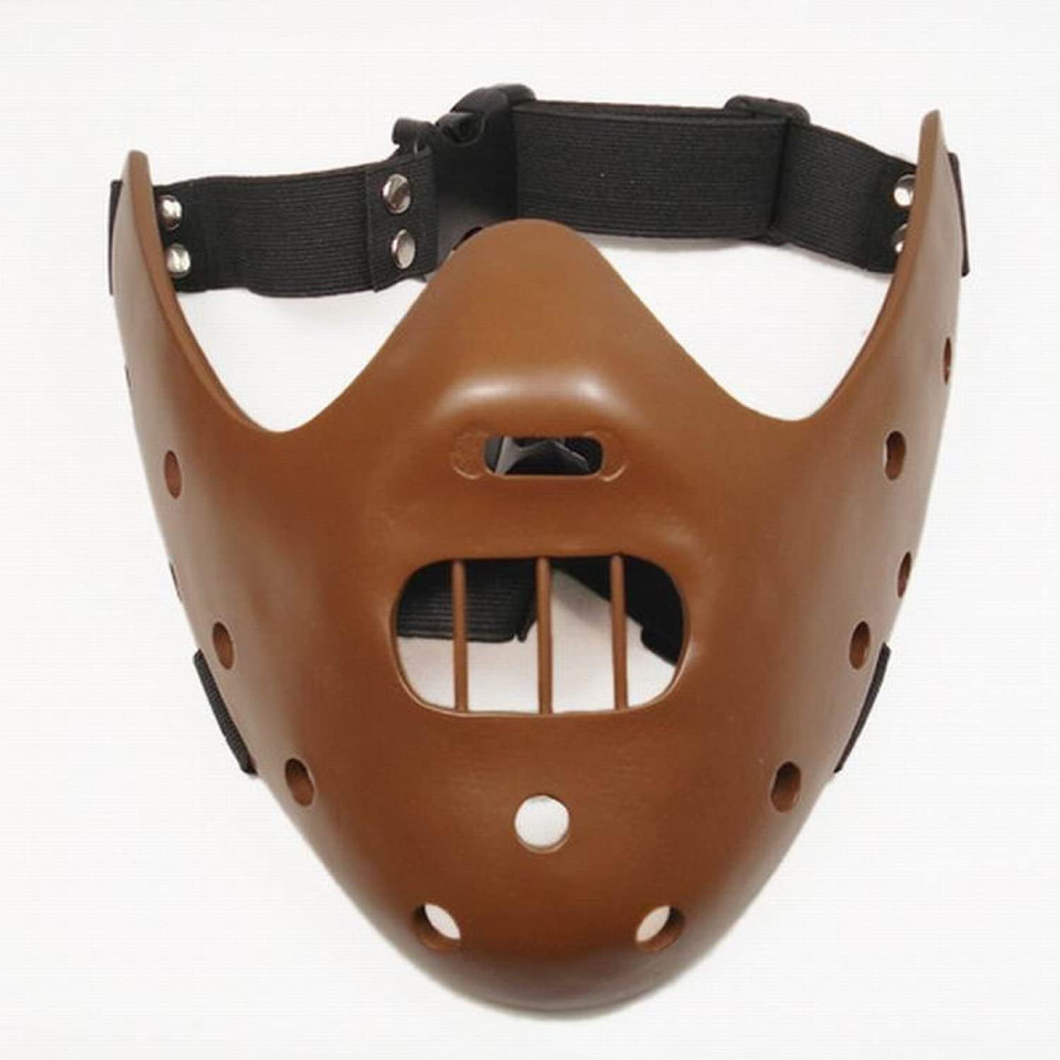 Gmasking Resin Hannibal Lecter Halloween Party Mask Replica coffee
