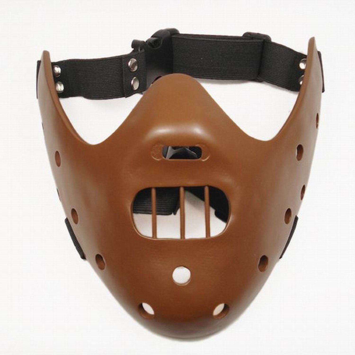 Gmasking Resin Hannibal Lecter Mask Replica(coffee)+Gmask Helmet Keychain