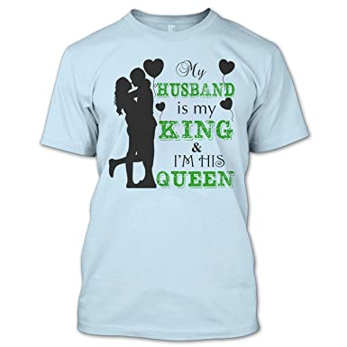 Amazoncom Ilctee Husband Is My King T Shirt Gift For Wife T Shirt