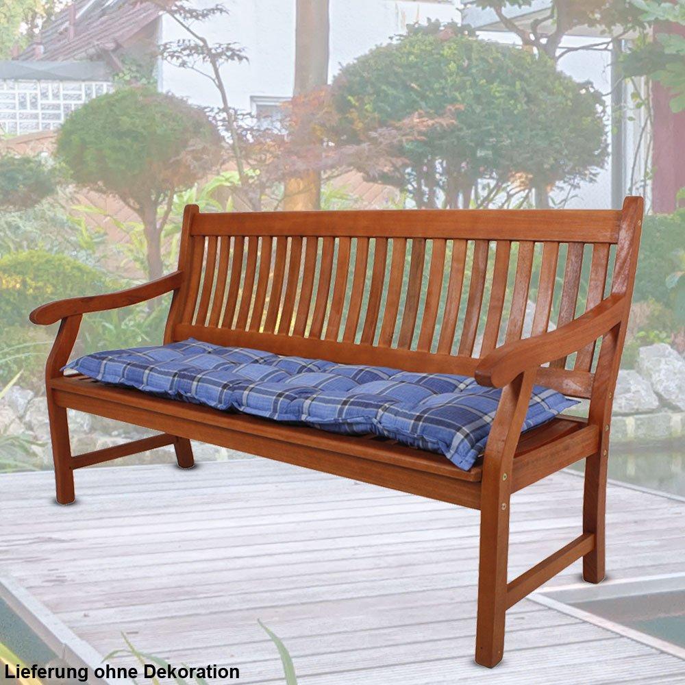 2er Set Sitz Bank Auflagen Textil Stoff Balkon Stuhl Sitz Kissen Polster kariert