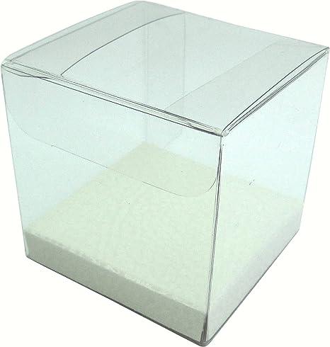 50X Hochzeit Kunststoff Klar Geschenke Box Süßigkeiten Geschenkverpackung Box