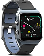 MorePro Smart Watches, GPS Fitness Watch 17 Modes Sport Watch 50m IP68 Waterproof, All Day Activity Tracker Pedometer Watch with Heart Monitor Sleep Monitor & Message Reminding