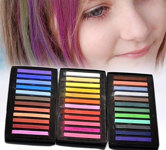 Housweety 1 Caja (36 colores) color de pelo tiza tinte ...