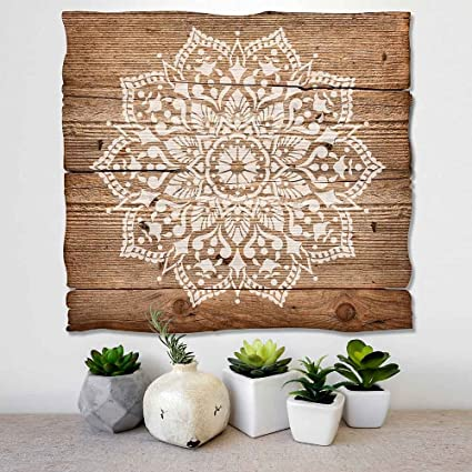 Amazon.com: Cutting Edge Stencils Mandala Stencil Passion - Trendy ...