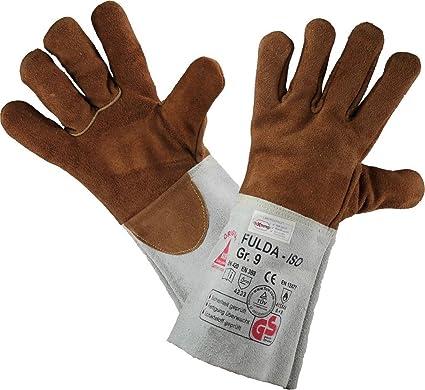 workAnt Guantes de cuero de soldadura FULDA - ISO - Guantes de trabajo para el trabajo de soldadura - Talla 8 (M) a 12: Amazon.es: Ropa y accesorios