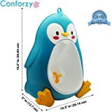 Conforzy, Penguin Standing Potty Training Urinal for Boys with Fun Aiming Target (Blue)