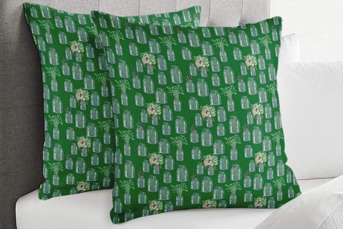 S4Sassy Verde Popelina de Algodon jarrón de Botella y ...