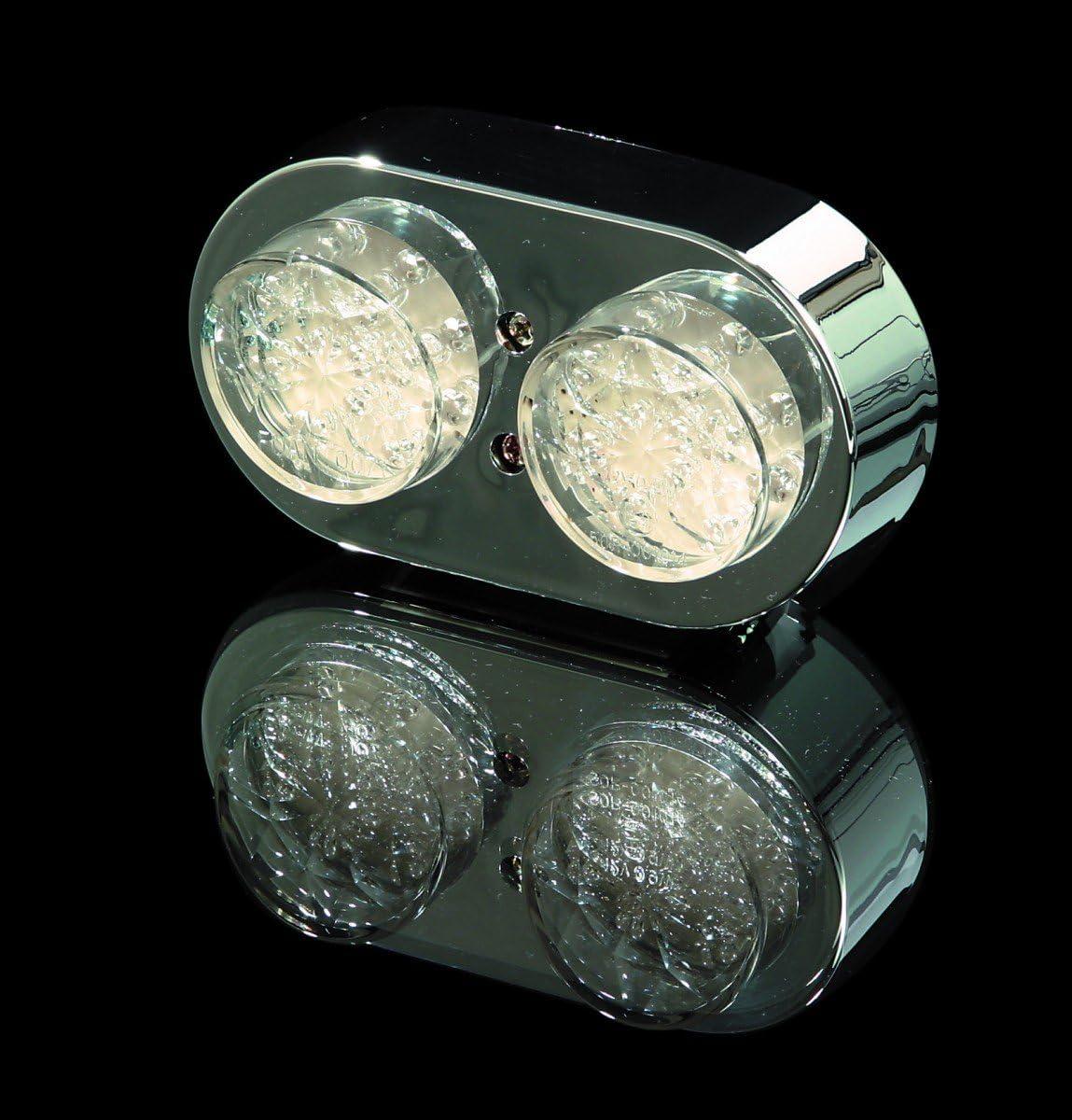E-gepr. Doppel-Mini-R/ücklicht LED chrom