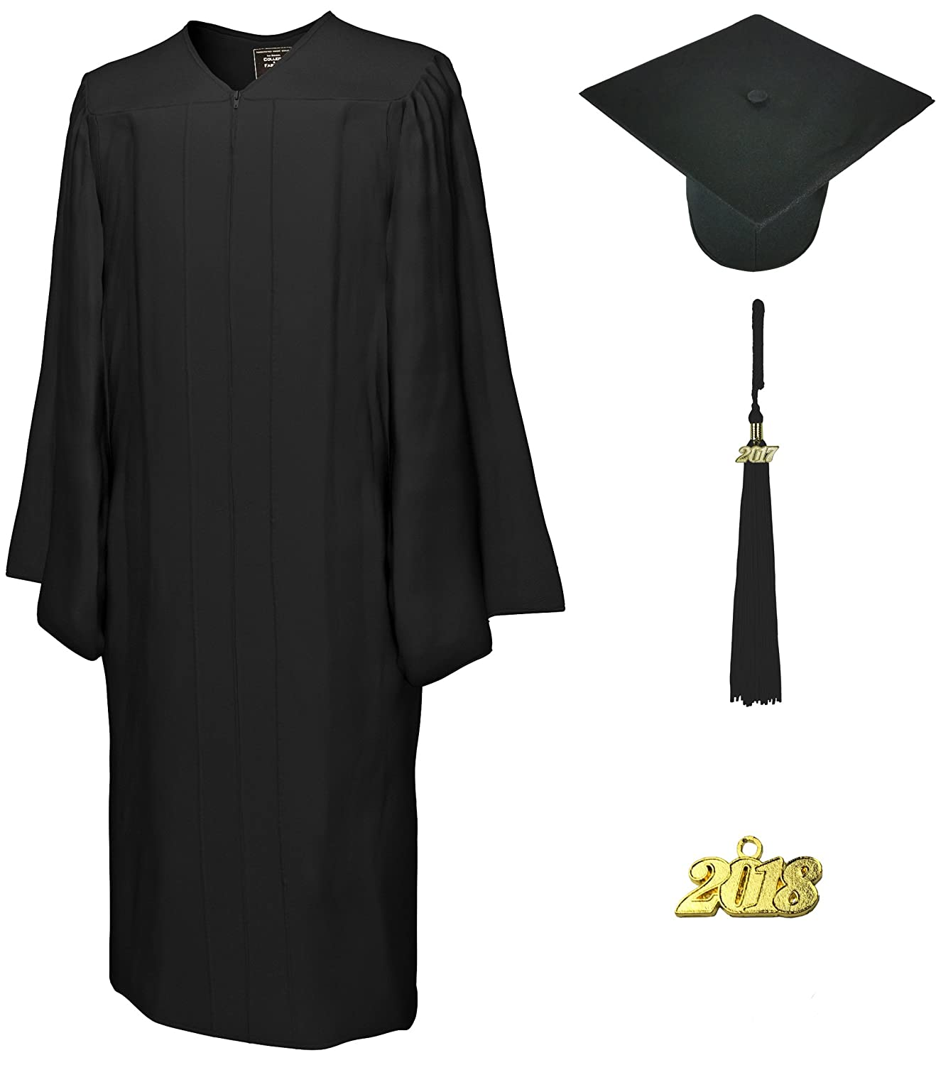 Amazon.com: Cap & Gown & Tassel, Set Deluxe Matte Go Green: Clothing