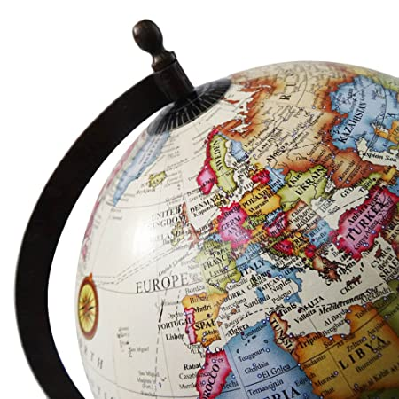 Buy Decorative Globe with Brown Frame World Map 13