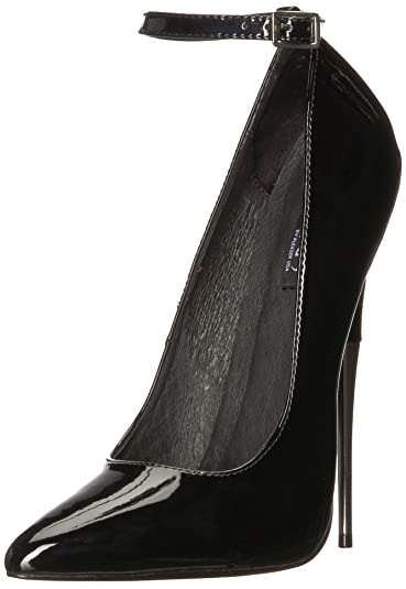 9159d794f Pleaser Devious Women's Scream-12 Pump,Black Patent,5 ...
