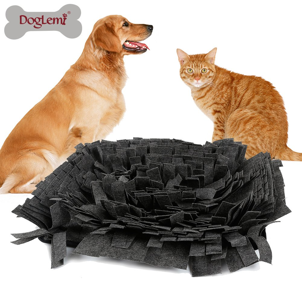 Petneces Snuffle Mat Encourages Natural Foraging Skills Dog Feeding Mats - Dog Smell Training Mat Nose Work Blanket(green&brown)