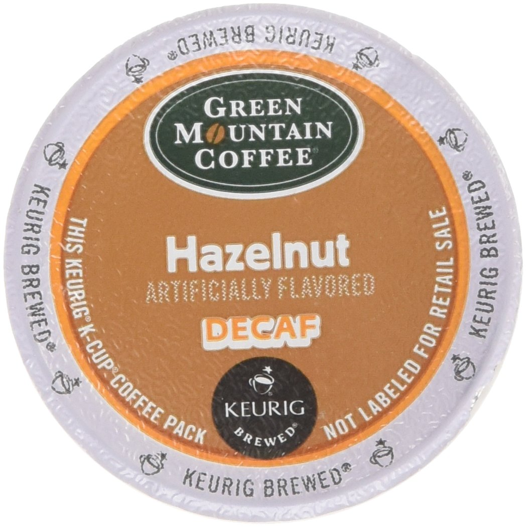 Green Mountain Coffee Hazelnut Decaf, Light Roasted, K-Cup Portion Pack for Keurig K-Cup Brewers (Pack of 48)