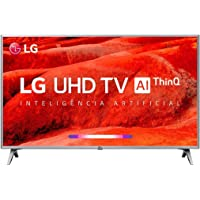 Smart Tv 4k Led 50 Lg Um7510psb, 4 Hdmi, 2 Usb, Webos, Wi-fi Integrado