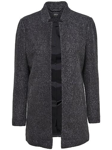 ONLY - Abrigo - trenca - para mujer gris (Dark Grey Melange) Medium