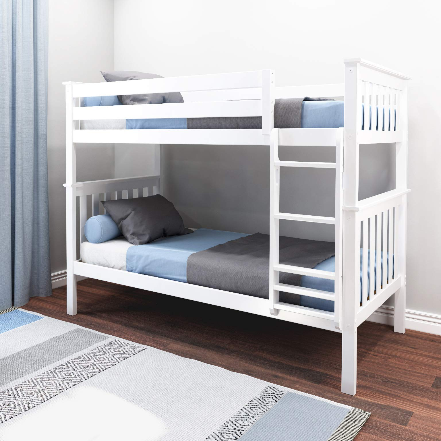 Max & Lily Bunk Bed, Twin, White