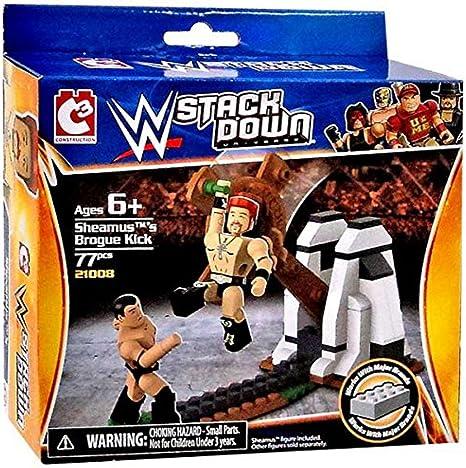 WWE Stack Down Building Block Set Sheamus Brogue Kick  21008 NEW