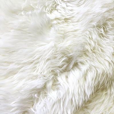 Genuine Large Sheepskin Rug, Ivory, Natural, New Zealand, by Forsyth
