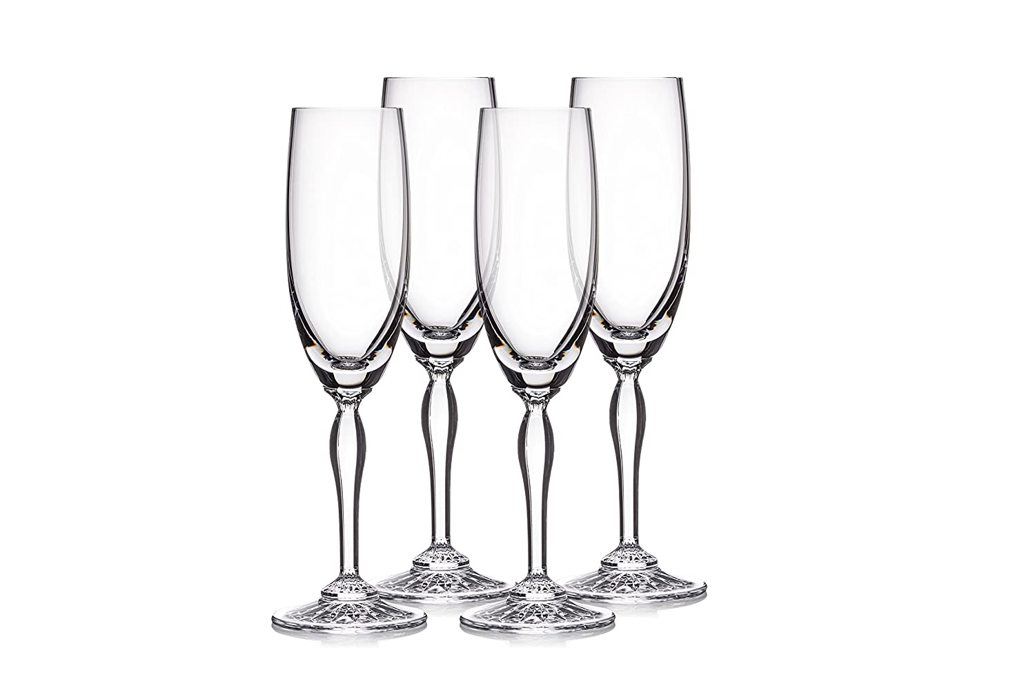 77631c7d0323 Amazon.com  Marquis By Waterford 40030431 Ventura Flute Set 4 5.5 oz Clear   Kitchen   Dining