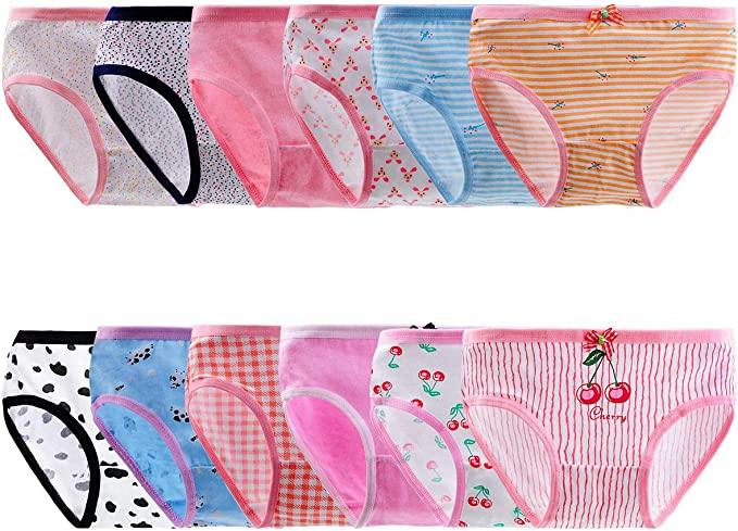 Rene Rofe Girl Brief Bikini Underwear Panties Toddler//Big Girl 14 Pack