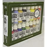 Vallejo Basic USA Colors Paint Set, 17ml