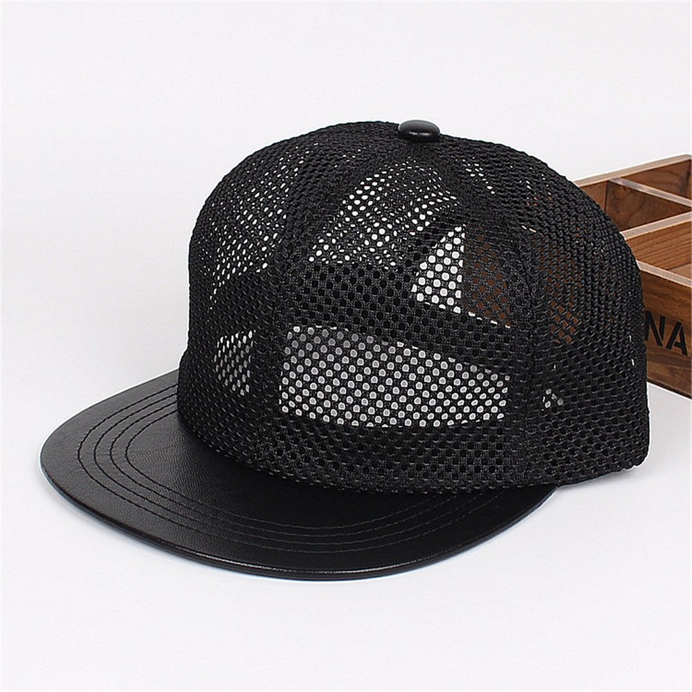 Y-WEIFENG New Borde de Malla común de Gorra de de de Pantalla ahuecada con Sombrero Negro y Gorra de béisbol con Lengua de Pato 62eac4