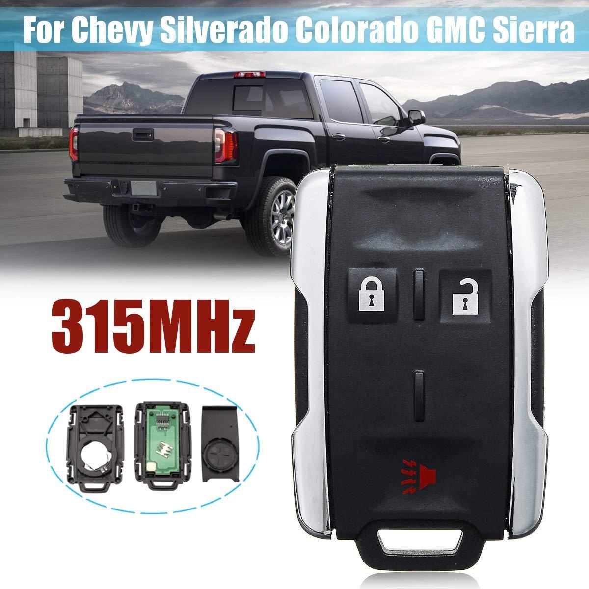 For  Chevy Colorado Silverado GM Keyless Remote Blk 3Button Lock//Unlock Panic