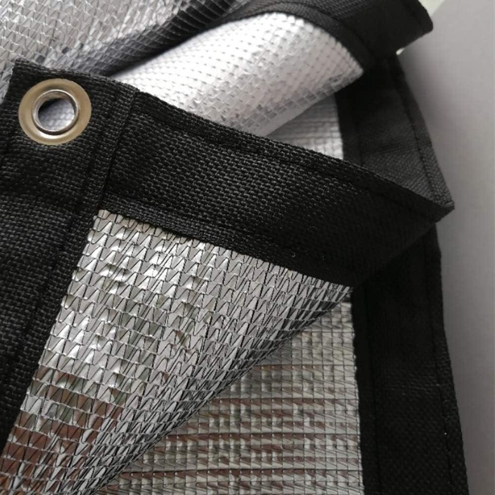 Taille : 1x1M XUEYAN B/âche B/âche de Protection Solaire B/âche Nette 99/% disolation Bande de Toit en Aluminium r/éfl/échissante en Aluminium pour Toit-terrasse ext/érieur m/² 120g
