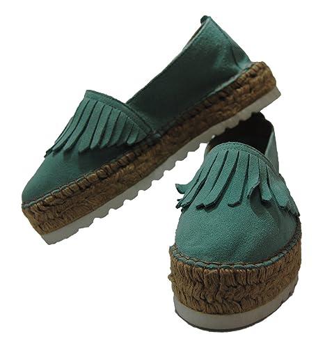 Pasfor Alpargata de Yute y Serraje con Plataforma: Amazon.es: Zapatos y complementos