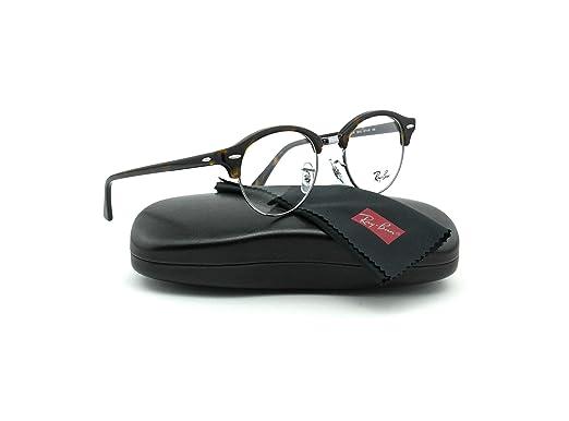 4f29f3e03a Amazon.com  Ray-Ban RX4246V ClubRound Unisex Eyeglasses (Dark Havana ...