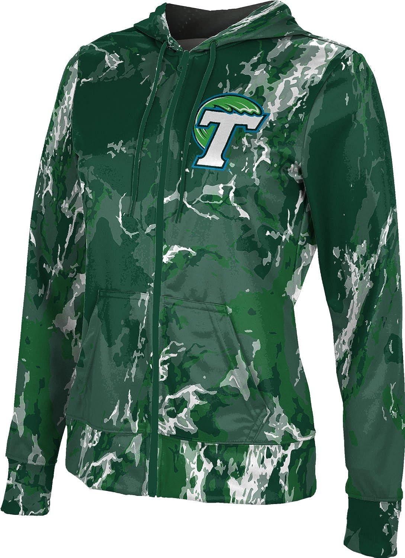 ProSphere Tulane University Girls Zipper Hoodie Marble School Spirit Sweatshirt
