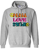 Sports Katz Womens 'Peace Love' SWIM Hoodie